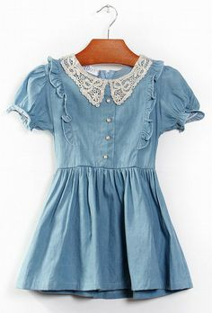 Perfect summer dress for your precious little lady!   These knee length dresses come in size 3T to size 8 in girls.   Ships in 10 to 17 days. Buttons are embellished with small gold flowers.  Ships in 1-3 days.