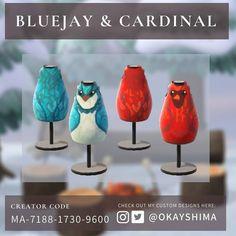 Animal Crossing Qr Codes Clothes, Animal Crossing Game, Bird Design, Animal Design, Cardinal Birds, Magic Eyes, Christmas Animals, Blue Jay, Zoo Animals