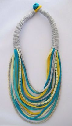 crochet jewelry yarn - Google Search                                                                                                                                                                                 More
