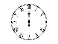 Clock Face Midnight Gothic clock face with