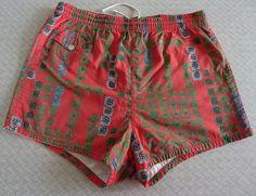 Catalina Vintage 1950s 50s Men's Hawaiian Swim Trunks cabana shorts by cowpunkabilly