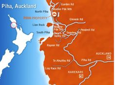 Details on where PIHA is should you want to visit it when your here! Auckland New Zealand, Weather, Movie Posters, Film Poster, Weather Crafts, Billboard, Film Posters