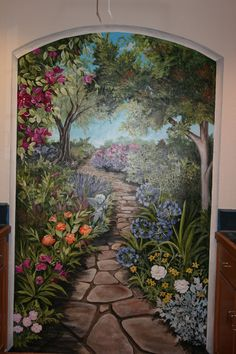 Painted muralso pretty Painting Pinterest Gardens