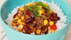 Videorecept:  Rýchle Chilli con carne Acai Bowl, Chili, Soup, Breakfast, Acai Berry Bowl, Morning Coffee, Chile, Chilis, Soups