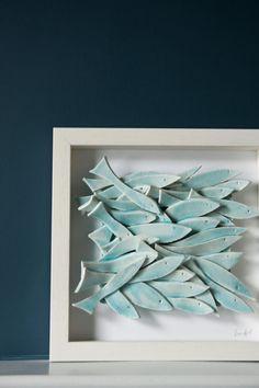 Keramik Fisch Wand Kunst keramische Fliesen Pastell von karoArt