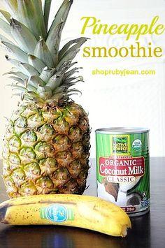 paula deen's pineapple smoothie
