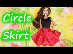 How to make Basic Doll Clothes - Circle Skirt with link to free pattern