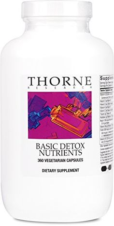Thorne Research  Basic Detox Nutrients  Multi VitaminMineral Supplement to Support Individuals with Environmental Toxicity  360 Capsules -- Click image to review more details.