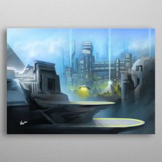 Sci-fi landscapes by Valerio De Cristofaro Flat Screen, Landscapes, Sci Fi, Posters, Phone Cases, Metal, Blood Plasma, Paisajes, Scenery