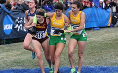 In the long finishing stretch of Saturday's NCAA Cross Country Championships in Terre Haute, Indiana, Baylor's Annie Dunlap, who had gone out aggressively in the race, began to wobble. At first, it looked like she might be able to make it to the finish line unassisted, but with less than 50 meters remaining, she fell to the ground. She tried to get up and run, or even walk, across the finish line, but she fell two more times.