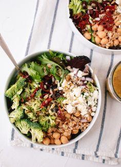 Greek Salad with Broccoli and Sun-Dried Tomatoes