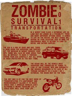 Zombie survival 101 - Transportation