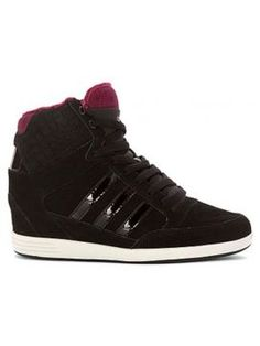 Adidasi cu platforma ascunsa Adidas negri Adidas, Romania, High Tops, High Top Sneakers, Shoes, Fashion, Moda, Zapatos, Shoes Outlet