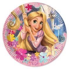 Rapunzel Tangled Paper Plates 23cm