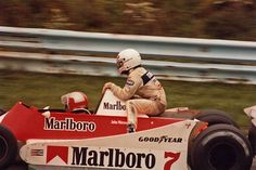 Nelson Piquet rides on John Watsons McLaren Formula 1, F1 Motor, The Golden Years, Thing 1, Mc Laren, F1 Drivers, Photo Story, Indy Cars, First Car
