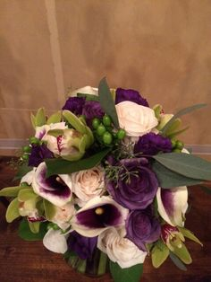 roses and picasso Calla lilies are added for the bridal bouquet