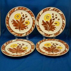 Vernon Kilns Salad/Luncheon Plates (4) GaleTurnbull Casa California T632 1937-38 #VernonKilns