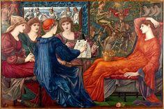 Laus Veneris by Byrne-Jones, based on poem by Swinburne