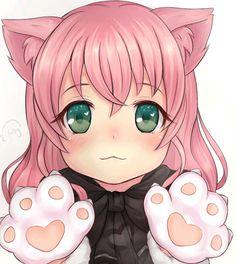 anime kawaii sakura ARGH, je craque & C& trop mignon ! Anime Neko, Kawaii Anime Girl, Anime Girls, Pet Anime, Lolis Neko, Loli Kawaii, Anime Animals, Anime Art Girl, Kittens Playing