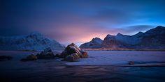 Flakstad Beach, Lofoten Islands, Northern Norway. By: Gary Newman