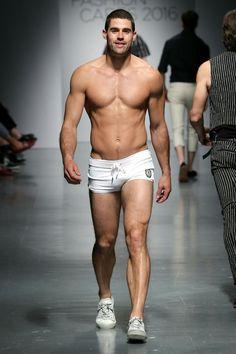 Men's underwear/swimwear Runway Show, Chad White