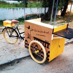 olebikes foodbike triciclo Food Truck, Coffee Box, Bike Coffee, Foodtrucks Ideas, Vendor Cart, Mini Cafe, Bike Food, Coffee Trailer, Street Coffee