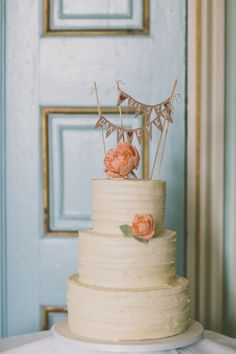 Whimsical Rustic Cake Peonies Flowers Topper Beautiful Irish Castle Wedding http://campbellphotography.co.uk/
