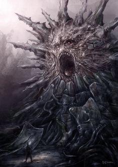 Alien Mutant Monster by Gurbatchoff on DeviantArt Monster Concept Art, Fantasy Monster, Monster Art, Dark Creatures, Fantasy Creatures, Arte Horror, Horror Art, Dark Fantasy Art, Cthulhu Art