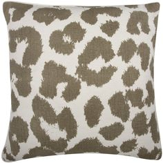 Leopard Pillow in Mushroom design by Thomas Paul ($104) ❤ liked on Polyvore featuring home, home decor, throw pillows, pillows, interior, other, leopard throw pillow, leopard home accessories, leopard home decor and thomaspaul