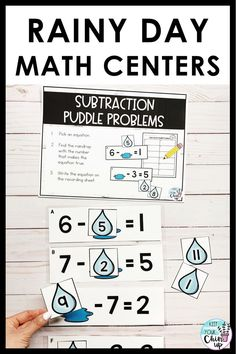 In this math game, students will identify the missing number in a subtraction equation.  This is a perfect math center for any first grade math classroom!
