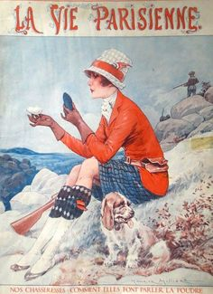 La Vie Parisienne Cover, by Maurice Milliere, October 1927
