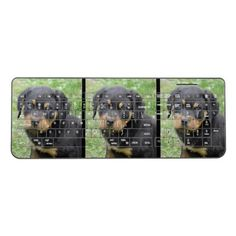 #Doggy McDogface Rottweiler Puppy Wireless Keyboard - #rottweiler #puppy #rottweilers #dog #dogs #pet #pets #cute
