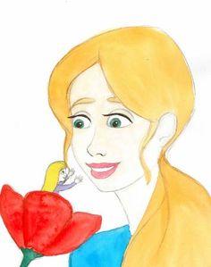 """""""La Petite Poucette"""", histoire que j'ai illustrée pour le site ebookids.com"""