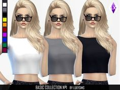 The Sims Resource: Basic Short Shirt by LuxySims • Sims 4 Downloads
