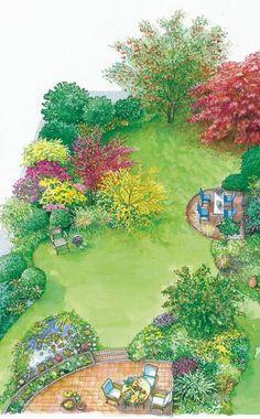 Im Herbst sorgt die Herbstfärbung von Pflanzen wie den Fächer-Ahorn dafür, dass in unserem Garten feurigen Farben das Gesamtbild neu gestalten