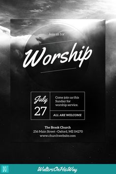 church poster design DIY Church Event Flyer Template - Heavenly Worship - (For Word amp; Graphic Design Flyer, Church Graphic Design, Event Poster Design, Church Design, Graphic Design Templates, Event Posters, Poster Designs, Movie Posters, Flyer Design Inspiration