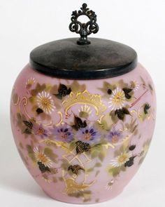 Mt. Washington Style Painted Biscuit Jar : Lot 128