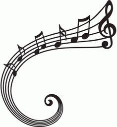Silhouette Design Store - View Design #94861: musical swirl