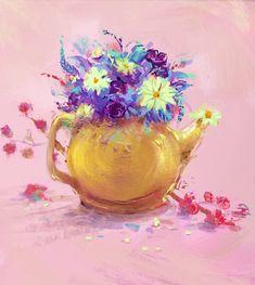 Flower kettle by eltowergo on DeviantArt Kettle, Deviantart, Flowers, Concept, Sketches, Artists, Drawings, Art, Tea Pot