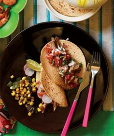 Shredded Pork Tacos recipes from realsimple.com #myplate #protein #vegetables