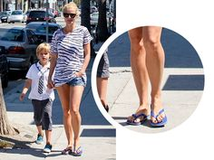SPOTTED: Gwyneth Paltrow takes a weekend stroll in our Brasil flip flops