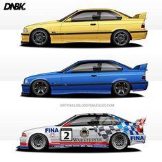 Stock / Street / Race  Prints available at Dirtynailsbloodyknuckles.com  Link in profile  #bmw #e36 #e46 #m3 #bmwm3 #beemer #maxbimmer #bimmer #bmwcsl #csl #e36gtr #bmwe36 #lemans #sportscar #racecar #becauseracecar #illustrator #illustration #carart #automotiveart #illest #fatlace #speedhunters #iamthespeedhunter #carart #automotiveart