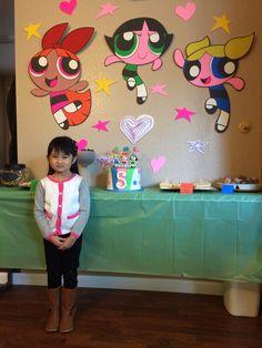 DIY Powerpuff decorations for AR's 5th birthday