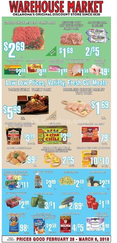 Warehouse Market Weekly Ad February 28 - March 6, 2018 - http://www.olcatalog.com/warehouse-market/warehouse-market-weekly-ad.html