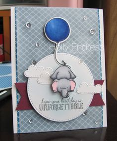 Hollybeary Creations, #wplus9 Unforgettable, Freshly Made Sketches, Stampin' UP! Copics, Lawn Fawn