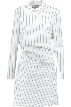 J.W.ANDERSON Gathered Striped Cotton Shirt Dress. #j.w.anderson #cloth #dress