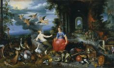 Аллегория воздуха и огня (Allegory of Air and Fire) (совм с мастерской Яна Брейгеля Мл) 51 х 86.4 д.,м. Нью-Йорк, музей Бруклин