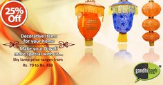 Add stylish and dazzling light this #Diwali with our Decorative Items only at Gandhibagh.com