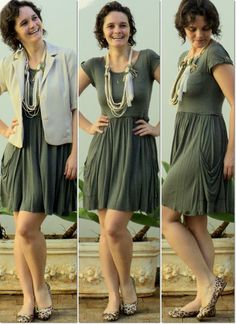 blog v@ LOOKS | por leila diniz: MODELITO vestido verde hering + colar barbante + casaqueto | DEUS: discernimento