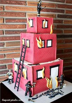 The fireman cake I made Ralph is not nearly as cool as this one...